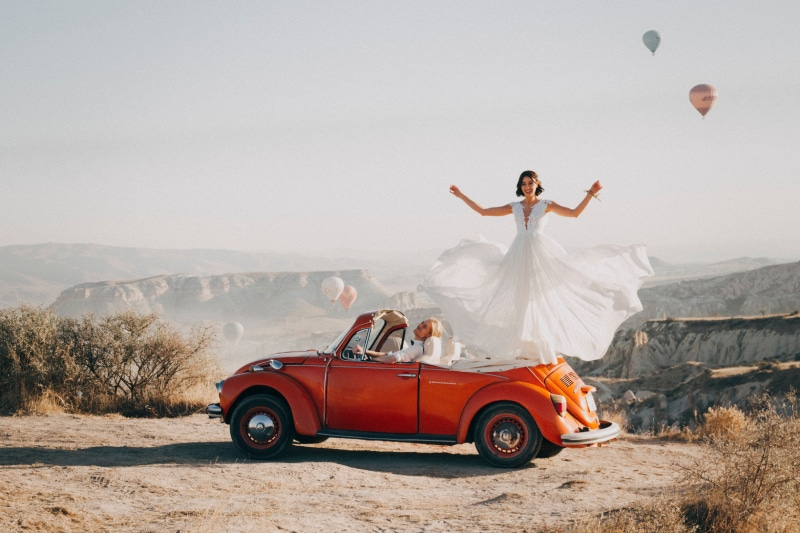 Traumauto für die Hochzeit mieten